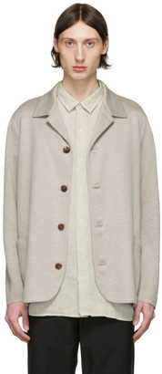 Harris Wharf London Beige Linen Overshirt Jacket