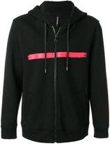 Neil Barrett printed zip hoodie