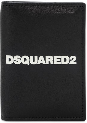 DSQUARED2 Print Logo Leather Card Wallet
