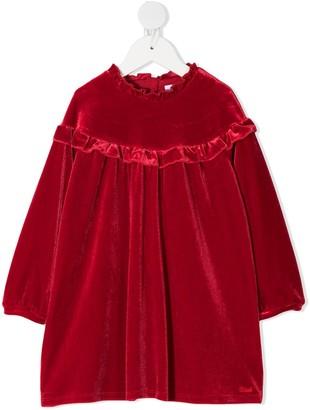 Chloé Kids Ruffle Velvet Dress