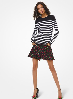 Michael Kors Striped Cotton Sweater