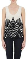 Foundrae FOUNDRAE WOMEN'S FOLKLORIC-PRINT SLEEVELESS TOP SIZE 2