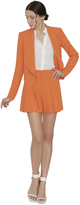 Alice + Olivia Tangerine Scarlet High Waist Flutter Shorts