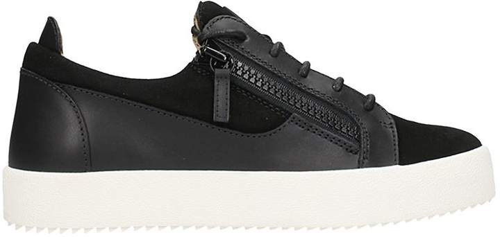 Giuseppe Zanotti Sneacker Low-top In Black Leather And Suede