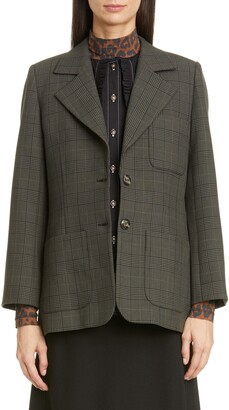 Ganni Two-Button Suiting Jacket