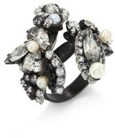 Erickson Beamon Crystal & Faux-Pearl Ring