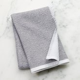 Crate & Barrel Grey Textured Terry Dish Towel