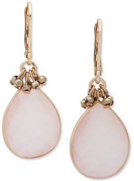lonna & lilly Gold-Tone Blush Stone Drop Earrings