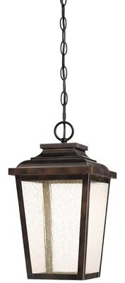 "Three Posts Mayhugh 1 -Bulb LED Outdoor Hanging Lantern Size: 15.5"" H 8.5"" W 8.5"" D"