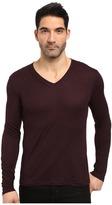 John Varvatos Long Sleeve Knit V-Neck w/ Pintuck Details K2807S3L