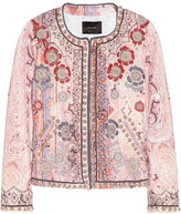 Isabel Marant Johnson hand-embellished cotton-blend jacket