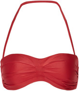 Vix Pleated bandeau bikini top