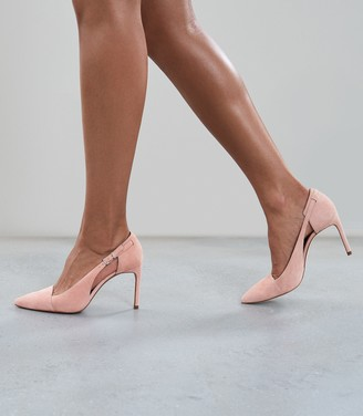 Reiss Halley - Buckle Detail Pointed Heels in Pink