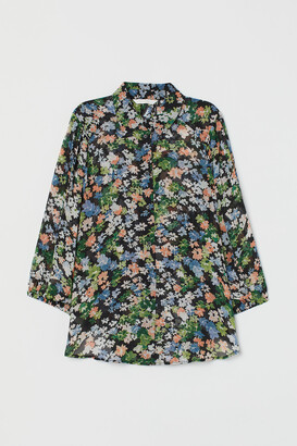 H&M Patterned Chiffon Blouse