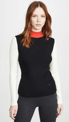 Tory Burch Colorblock Mockneck Sweater