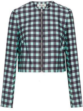 Diane von Furstenberg Gingham Wool And Silk-Blend Jacket