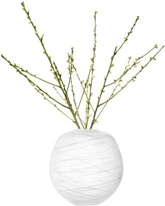 LSA International Boulder Vase H31cm Chalk Thread