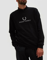 Fred Perry Monochrome Tennis Sweatshirt in Black