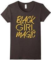 Women's Black Girl Magic Melanin Gold Gift T-Shirt Large