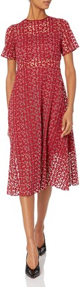 Erin Fetherston Erin Women's Nora Short Sleeve Lace Illusion Dress