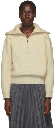 Acne Studios Off-White Kelanie Zip-Up Sweater