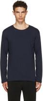 Issey Miyake Navy Long Sleeve Basic Bio T-Shirt
