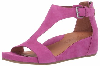 Gentle Souls Women's Gisele Low Wedge T-Strap Sandal Sandal
