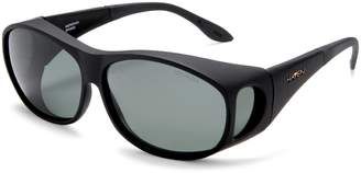 Foster Grant Haven Fit On Sunwear Meridian Fit On Sunglasses Black Frame/Gray Lens one size