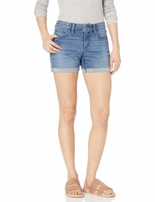 Daily Ritual Amazon Brand Women's Denim Turn-Cuff Short-Base A