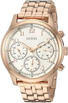 GUESS GUESS? Women's Quartz Stainless Steel Casual Watch, Color:Rose Gold-Toned (Model: U1018L3)