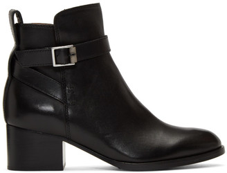 Rag & Bone Black Walker Buckle Boots
