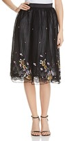 Kas Sequin Embroidered Lace Skirt
