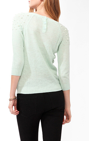 Forever 21 Pearlescent Sleeve Sweater