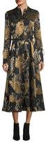 Lafayette 148 New York Leandra Devore Velvet Midi Dress