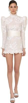 Alessandra Rich Embellished Tulle Mini Dress
