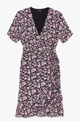 Nasty Gal Womens Bud Move Floral Mini Dress - Black - S, Black