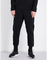 Y-3 Y3 Striped-detail cotton-jersey jogging bottoms