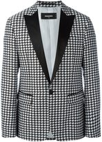DSQUARED2 houndstooth patterned blazer - men - Silk/Cotton/Polyester - 46