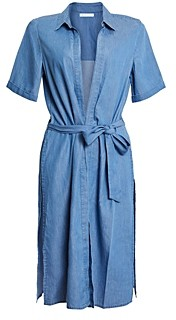 BCBGeneration Short Sleeve Chambray Duster