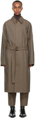 Lemaire Brown Wool Military Trench Coat
