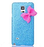 Samsung Galaxy Note 4 Case, Sandistore Bling Crystal Glitter Bowknot Case Cover for Samsung Galaxy Note 4 (Blue)