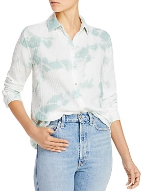 BeachLunchLounge James Tie-Dyed Puckered Gauze Shirt