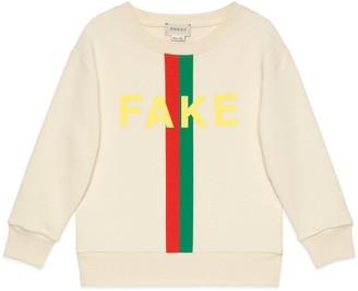 Gucci Children's 'Fake/Not' print sweatshirt