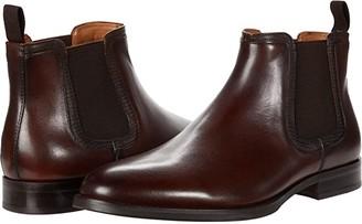 Steve Madden Agaze Chelsea Boot (Black Leather) Men's Boots