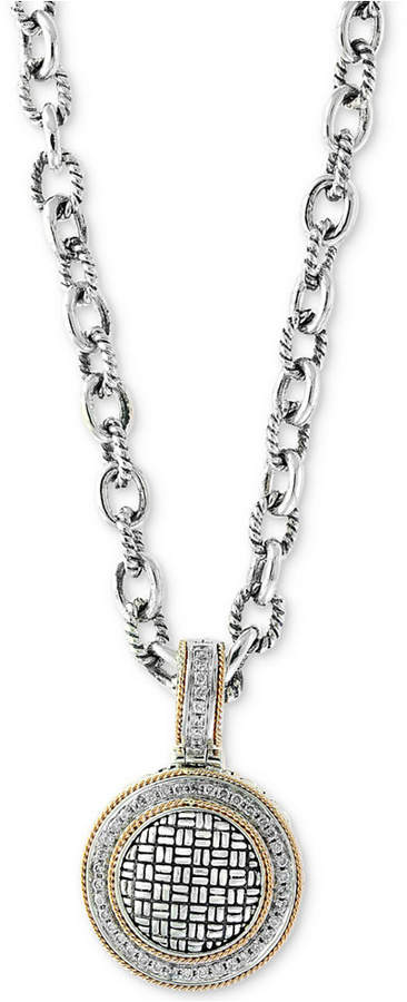 Effy Balissima by Diamond Pendant Necklace (1/3 ct. t.w.) in Sterling Silver & 18k Gold