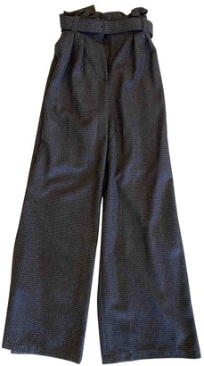 Bally Blue Wool Trousers for Women
