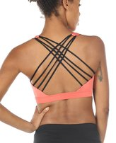 icyzone Women's Workout Yoga Clothes Strappy Crisscross Racerback Sports Bras (XXL, )