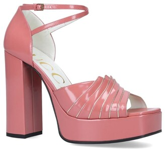 Gucci Leather Medea Platform Sandals 95