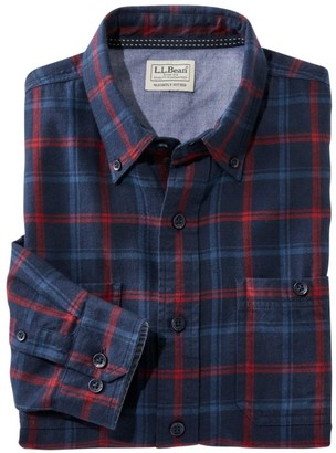 L.L. Bean L.L.Bean Rangeley Flannel Shirt Long Sleeve Slightly Fitted Plaid Men's Reg