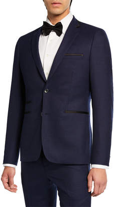 Neiman Marcus Slim-Fit Neat 2-Piece Suit
